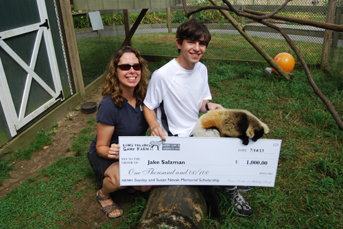 Jake Salzman Wins Stanley and Susan Novak Scholarship