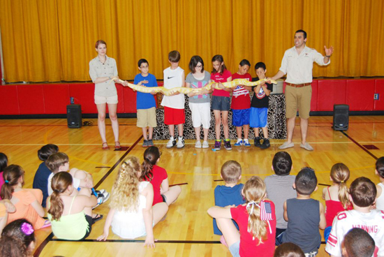 """""""Nature Nick"""" Visits Rhame Avenue Elementary School after Winning Long Island Game Farm's Facebook Essay Contest"""