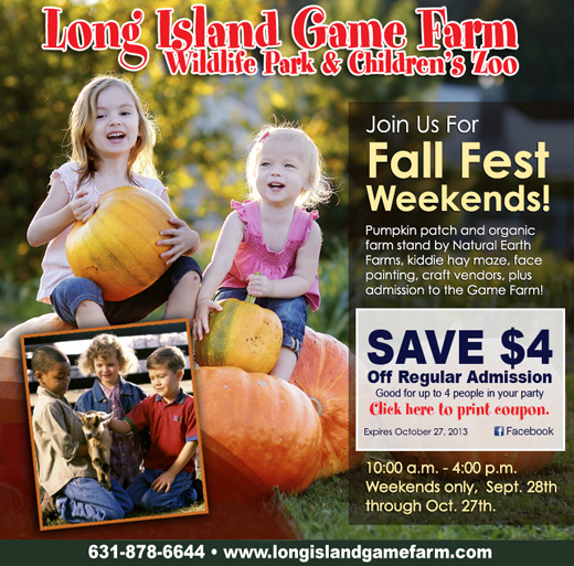 Long Island Game Farm Invites Visitors To Have Fun In The Fall