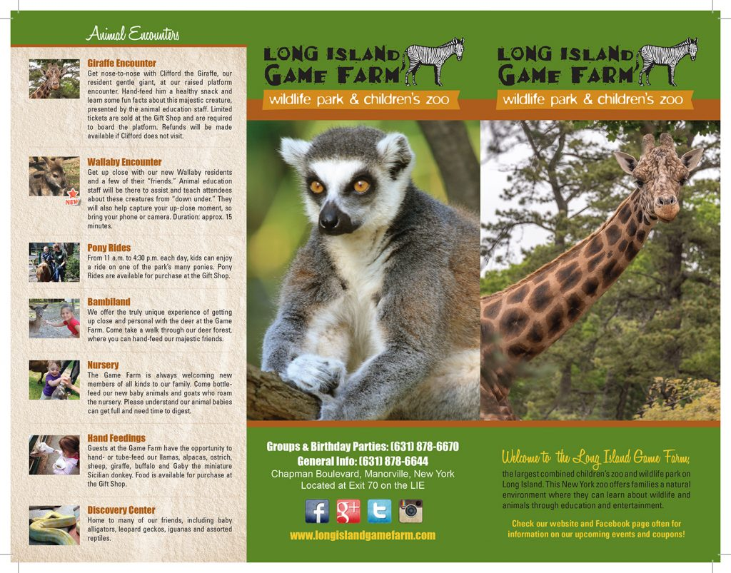 Long Island Game Farm Brochure