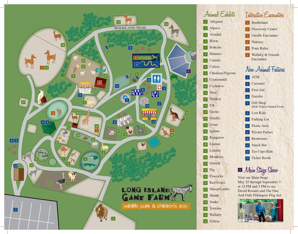 Long Island Game Farm Park Map